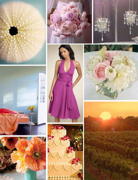Pink Ivory Peach Inspiration Board