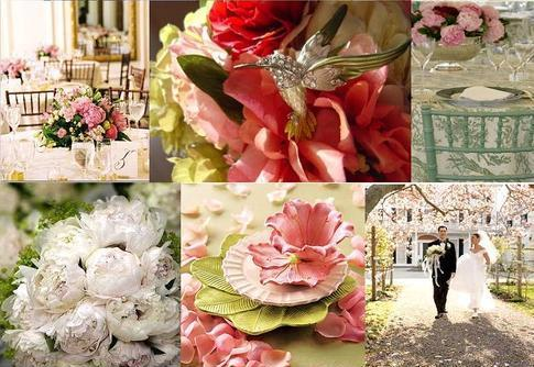 Pink & Celadon Green Inspiration Board