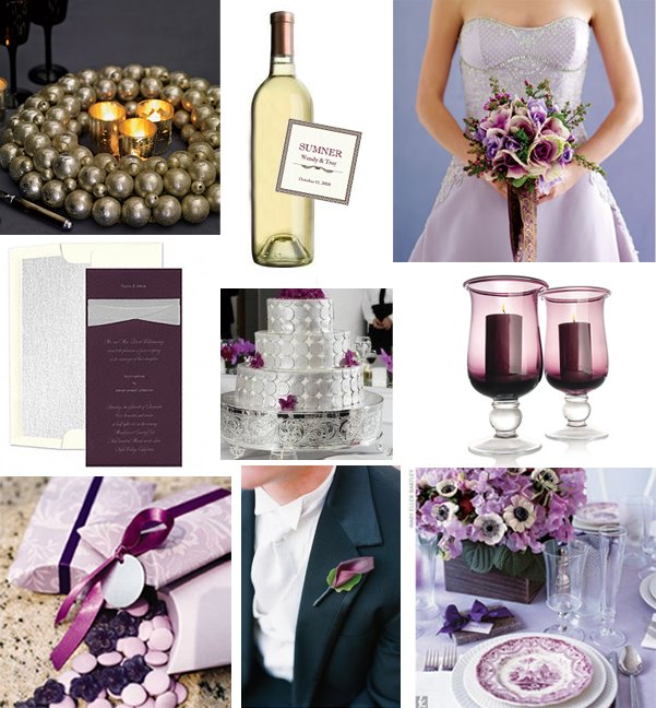 platinum & Purple Inspiration Board