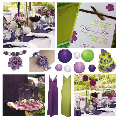 Purple and green inspiration Board