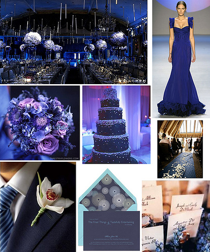 Blue Purple Silver Inspiration Board