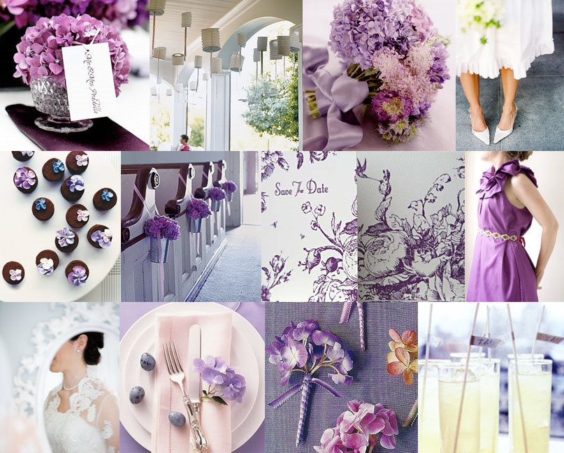Lavender purple & Violet inspiration board