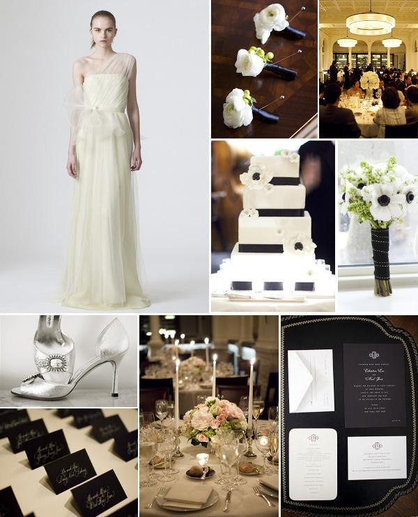 Modern Black & White Inspiration Board