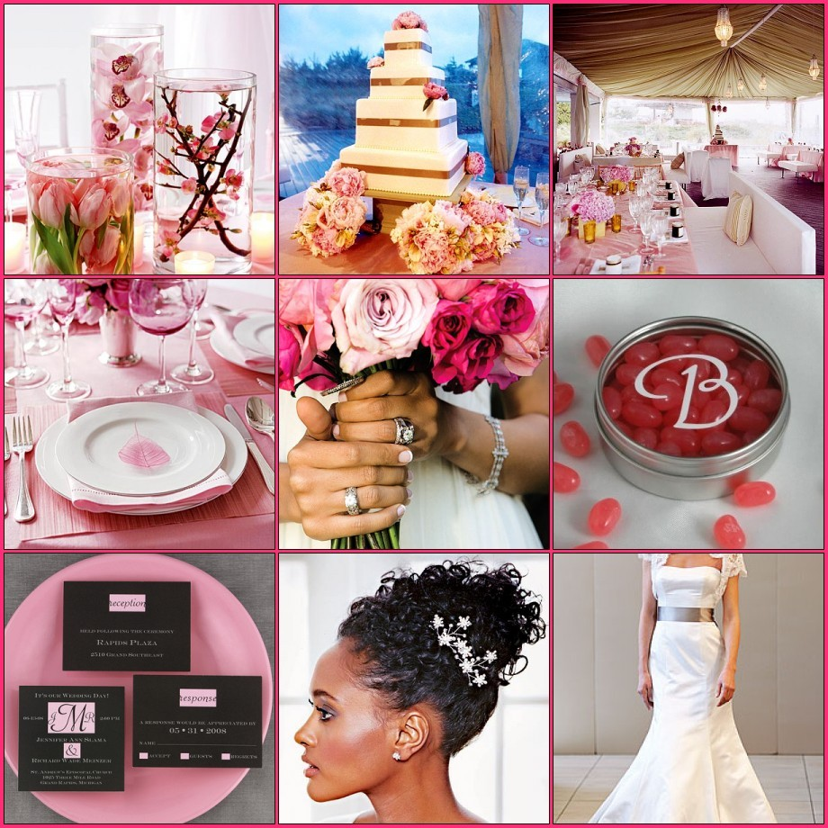Pink and Rose pink Inspiration Board