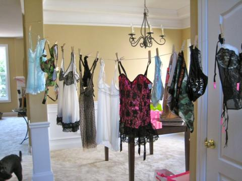 Lingerie Shower Decorations